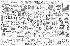Επιχείρηση doodles Στοκ Εικόνες