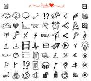 Επιχείρηση doodles Στοκ εικόνα με δικαίωμα ελεύθερης χρήσης