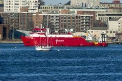 Επιχείρηση Fugro ερευνητικών σκαφών Στοκ φωτογραφία με δικαίωμα ελεύθερης χρήσης