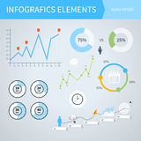 Επιχείρηση Infographic με τα διαγράμματα ελεύθερη απεικόνιση δικαιώματος