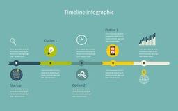 Επιχείρηση Infographic υπόδειξης ως προς το χρόνο με τα διαγράμματα διανυσματική απεικόνιση