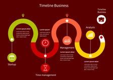 Επιχείρηση Infographic υπόδειξης ως προς το χρόνο διανυσματική απεικόνιση