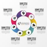 Επιχείρηση Infographics Κυκλικός infographic με 7 επιλογές ελεύθερη απεικόνιση δικαιώματος