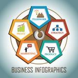 Επιχείρηση Infographics Στοκ εικόνα με δικαίωμα ελεύθερης χρήσης
