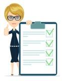 Επιχειρηματίας ή δάσκαλος που κρατά ένα έγγραφο με Στοκ Εικόνα