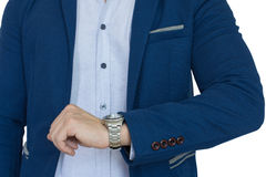 Επιχειρηματίας ακριβής, χρονική έννοια Στοκ φωτογραφίες με δικαίωμα ελεύθερης χρήσης