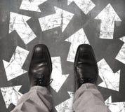 επιχειρηματίας αναποφάσ&iot Στοκ Εικόνα