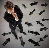 επιχειρηματίας αναποφάσ&iot Στοκ Εικόνες