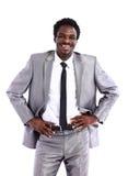 επιχειρηματίας αφροαμερικάνων που απομονώνεται Στοκ Φωτογραφία