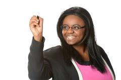 Επιχειρηματίας αφροαμερικάνων που κάνει την παρουσίαση Στοκ Εικόνες