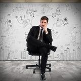επιχειρηματίας βέβαιος στοκ εικόνες