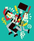 Επιχειρηματίας δύο διανυσματική απεικόνιση