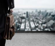 Επιχειρηματίας ενδιαφερόμενος για το αβέβαιο μέλλον Στοκ Φωτογραφίες