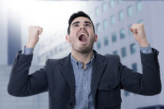 Επιχειρηματίας επιτυχίας Στοκ εικόνα με δικαίωμα ελεύθερης χρήσης