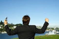 επιχειρηματίας ευτυχής Στοκ φωτογραφία με δικαίωμα ελεύθερης χρήσης