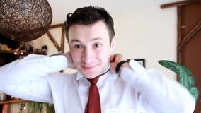 επιχειρηματίας ευτυχής απόθεμα βίντεο