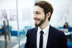 επιχειρηματίας ευτυχής Στοκ εικόνα με δικαίωμα ελεύθερης χρήσης