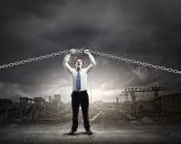 επιχειρηματίας ισχυρός Στοκ φωτογραφίες με δικαίωμα ελεύθερης χρήσης