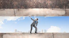 επιχειρηματίας ισχυρός Στοκ Εικόνα