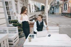 Επιχειρηματίας και άτομο στοκ φωτογραφία