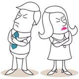 Επιχειρηματίας και γυναίκα τρελλοί ο ένας στον άλλο Στοκ Φωτογραφία