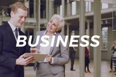 Επιχειρηματίας και επιχειρηματίας στην εταιρία Στοκ Φωτογραφία