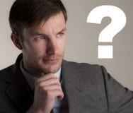 Επιχειρηματίας και ερώτηση Στοκ εικόνες με δικαίωμα ελεύθερης χρήσης