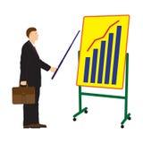 Επιχειρηματίας και πίνακας με το πρόγραμμα Στοκ εικόνα με δικαίωμα ελεύθερης χρήσης