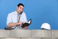 Επιχειρηματίας κατασκευής Στοκ Εικόνες