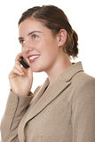 επιχειρηματίας κινητή στοκ εικόνα με δικαίωμα ελεύθερης χρήσης