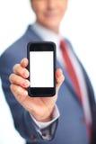 Επιχειρηματίας με ένα τηλέφωνο. Στοκ εικόνες με δικαίωμα ελεύθερης χρήσης
