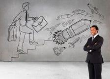 Επιχειρηματίας με τα διπλωμένα όπλα Στοκ Εικόνες