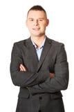 Επιχειρηματίας με τα διπλωμένα όπλα Στοκ Εικόνα