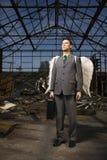 Επιχειρηματίας με τα φτερά αγγέλου Στοκ φωτογραφία με δικαίωμα ελεύθερης χρήσης