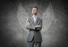 Επιχειρηματίας με τα φτερά στοκ εικόνες με δικαίωμα ελεύθερης χρήσης