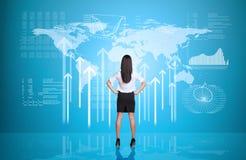 Επιχειρηματίας με τα χέρια στη μέση Στοκ Εικόνα