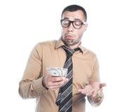 Επιχειρηματίας με τα χρήματα Στοκ Φωτογραφία