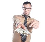 Επιχειρηματίας με τα χρήματα στοκ εικόνα με δικαίωμα ελεύθερης χρήσης