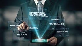 Επιχειρηματίας με την έννοια διοικητικών ολογραμμάτων προμήθειας απόθεμα βίντεο