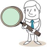 Επιχειρηματίας με την ενίσχυση - γυαλί Στοκ εικόνες με δικαίωμα ελεύθερης χρήσης