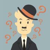 Επιχειρηματίας με την ερώτηση απεικόνιση αποθεμάτων
