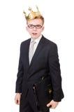 Επιχειρηματίας με την κορώνα Στοκ φωτογραφία με δικαίωμα ελεύθερης χρήσης