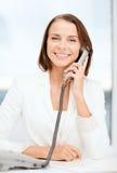 Επιχειρηματίας με την περιστροφική τηλεφωνική κλήση Στοκ Φωτογραφίες