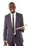 Επιχειρηματίας με την ταμπλέτα στοκ φωτογραφία με δικαίωμα ελεύθερης χρήσης