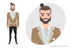 Επιχειρηματίας με τη γενειάδα στο επίσημο κοστούμι ελεύθερη απεικόνιση δικαιώματος