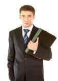 Επιχειρηματίας με τη γραμματοθήκη Στοκ φωτογραφία με δικαίωμα ελεύθερης χρήσης