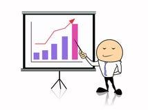 Επιχειρηματίας με τη γραφική παράσταση διανυσματική απεικόνιση