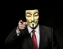 Επιχειρηματίας με τη μάσκα Στοκ Εικόνες