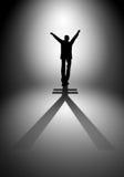 Επιχειρηματίας με τη σκιά ως σύμβολο χρημάτων Στοκ εικόνες με δικαίωμα ελεύθερης χρήσης