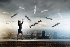 Επιχειρηματίας με τη στεφάνη Στοκ φωτογραφία με δικαίωμα ελεύθερης χρήσης